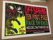 Offspring Poster Taz Signed 1994 Face To Face Ten Foot Pole Original Vintage