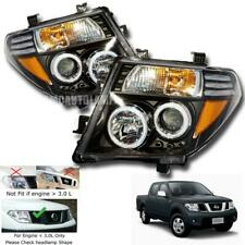 Fit 2005 - 2008 Nissan D40 Navara Smoke Black Led Head Lamp light Ute Pickup