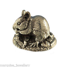 More details for 925 sterling silver field mouse figure. british wildlife.