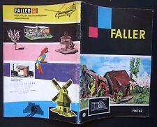1961-62 FALLER Katalog catalogo plastici modellini ferroviari giochi tedesco