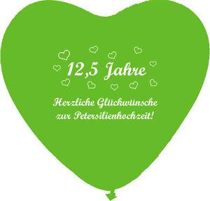 10 grüne Herzballons Petersilienhochzeit, ca. 30 cm , Hochzeitstag 12,5 Jahre
