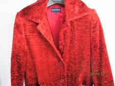 I PINCO PALLINO IMELDE & STEFANO CAVALLER  ORANGE/RED WOMENS COAT SZ 14 ITALY