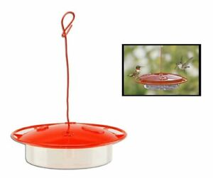 HUMMINGBIRD FEEDER SMALL 8OZ SAUCER W/ PERCH EASY CLEAN & FILL RED CLEAR PLASTIC