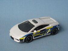 MATCHBOX LAMBORGHINI Galleria LP 550 auto della polizia giocattolo Bianco modello auto 69 mm
