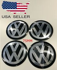 """*SHIPS FROM USA!*  VW 75mm(3"""") CENTER CAPS Decals/Emblem STICKERS VOLKSWAGEN"""