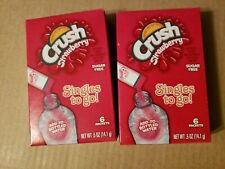 Strawberry Crush ~ 6 Packets ~ Sugar Free ~ Drink Mix ~ Lot of 2
