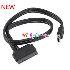 Dual Power eSATA USB 12V 5V Combo to 22Pin SATA USB Hard Disk Cable Adapter N