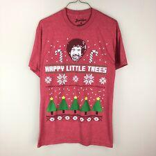 87b9c88b1 Bob Ross Happy Little Trees Funny Christmas Red M T Shirt