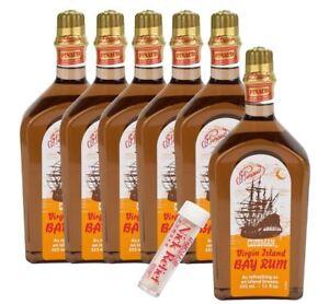 Pinaud - Clubman Virgin Island Bay Rum - 12 oz (6Pack) with Nick Relief Styptic