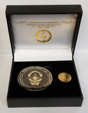 LAPD ROBBERY HOMICIDE DIVISION 50th ANNIVERSARY COIN & LAPEL PIN SERIALIZED 397