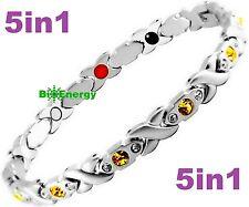 Magnetic Energy Germanium Armband Power Bracelet Health Bio Magnet 5in1 lady's