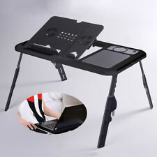UK With USB Cooling Fans Foldable Laptop Desk Sofa Stand Tray Table For Bed Sofa