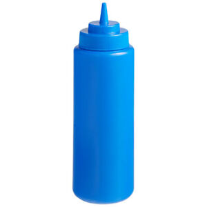 Choice 32 oz. Wide Mouth Squeeze Bottle - 6/Pack (select color)