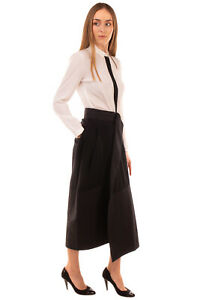 RRP €680 GENTRYPORTOFINO Midi Wrap Skirt Size IT 40 / XS Black Unlined Pleated