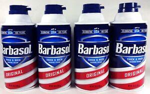 Barbasol Shaving Cream, Original, Thick And Rich, 10 oz Can (4 Count)