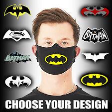 Batman Face Mask Personalised Kids Adults Washable DC Comics Marvel Protective