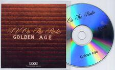 TV ON THE RADIO Golden Age 2008 UK 1-trk promo test CD 4AD