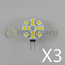 3 x Ampoule G4 12 Led SMD Blanc Froid 190 Lumens 12V DC,caravane,bateau,voiture