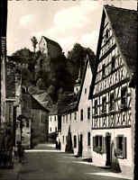 Pottenstein Bayern Oberfranken ~1950/60 Fischergasse Gasse Schloss Burg Festung