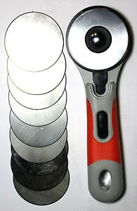 1 DAFA Rotary Cutter Handle with 10  - 60MM ROTARY CUTTER BLADES