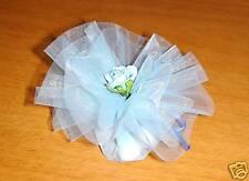 CONFEZIONE BOMBONIERE 2 VELI azzurri + confetti OREFICE