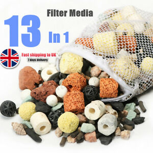 13 In 1 Aquarium Fish Tank Pond Biological Ring Bio Ball Filter Media  UK AU1