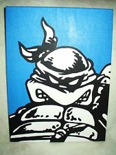 Canvas Painting Ninja Turtles Leonardo Blue Art 16x12 inch Acrylic