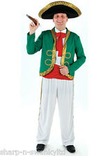 Mens Mexican Mariachi Spanish with Sombrero Hat Fancy Dress Costume Outfit