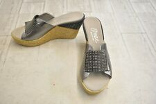 **ONEX Meredith Wedge Sandal - Women's Size 10, Pewter - NEW!