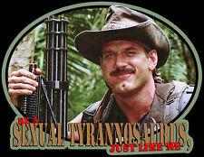 "80s Sci-Fi Classic Predator Jesse Ventura ""Be A Sexual Tyrannosaurus"" custom tee"