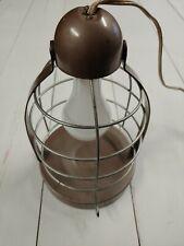 Vintage Sun Valley Bird Cage Hanging Heat Lamp Metal Brown 120 V Steam Punk