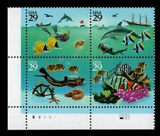 ALLY'S STAMPS US Plate Block Scott #2863-6 29c Wonders of the Sea [4] MNH [SK]