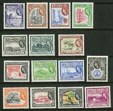 British Guiana  1954  Scott #  253-267  Mint Hinged Set