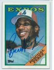 Pascual Perez (Deceased) signed 1988 Topps Montreal Expos autograph #647