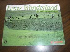 Lens Wonderland Canon Fd Lens Guide Book Booklet