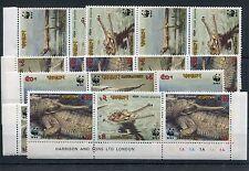 Bangladesch aus 323/36 alle 3 `er Zusammendrucke postfrisch / WWF ........1/1748