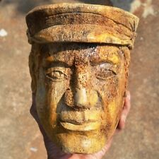"""6 1/4"""" Hand Carved Human Carving on Old Bone Fossil Carved for Decoration 001"""