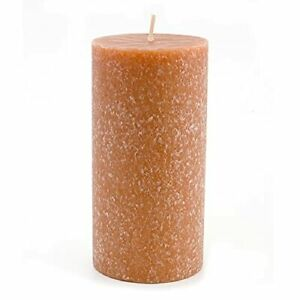 Unscented Timberline Pillar Candle 3 x 6-Inches Rust Long Lasting Home Decor