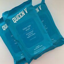 NEW (3 PKGS) Queen V Feminine Hygiene Wipes Coconut Aloe Flushable pH Balanced