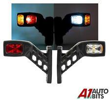 "12v 24v Red Amber White Stalk Side Rubber Led Marker Lights Trailer Truck 5"" L"