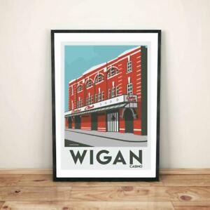 Wigan Casino vintage retro Northern Soul art print poster