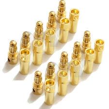 3.5mm Bullet Connector 10 Pairs 20pcs Gold-Plated Banana Plug USA Shipping