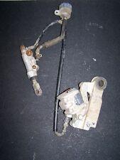 91 Yamaha yz 125 rear brake caliper master cylinder hose line complete