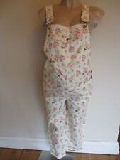 ASOS MATERNITY CREAM FLORAL DENIM JEANS DUNGAREES SIZE 8 NEW