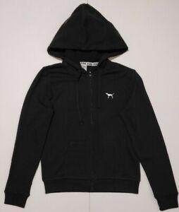 Victoria's Secret  PINK , Hood Full-Zip / Sweater / Jumper size SMALL, BLACK