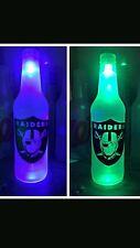 Oakland Raiders  LED Bottle Light, Pub Bar Neon Man Cave Sign NFL