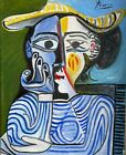 PABLO PICASSO Original Vintage Old Oil painting hand signed 1960 Not A print