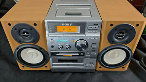 Sony CD MiniDisc Tape CMT-CP500MD Spares Or Repair with speakers One minor Fault