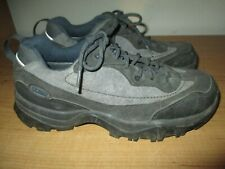 L.L. Bean Women's Size 8.5 Gray Waterproof Suede Leather Hiking Shoes- Fast Ship
