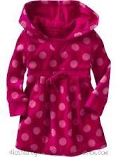 ~ neu mit etiketten mädchen 5 baby gap kids velour collection hot pink dots kapuze hoodie kleid ~